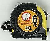 Medid MD/9256 Flexómetro con funda de goma, 6 m x 25 mm