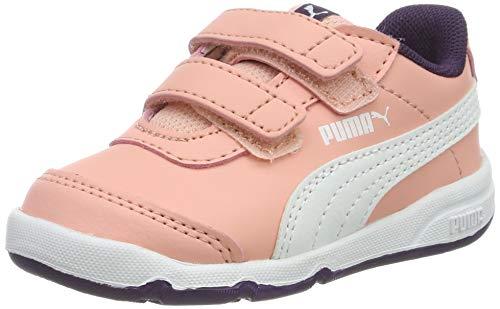 Puma Stepfleex 2 SL V Inf, Scarpe da Ginnastica Basse Unisex-Bambini, Bianco White-Indigo Bunting-Orange Pop, 27 EU