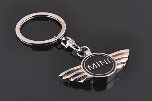 Llavero (metal), diseño con logotipo de Mini Cooper, color negro