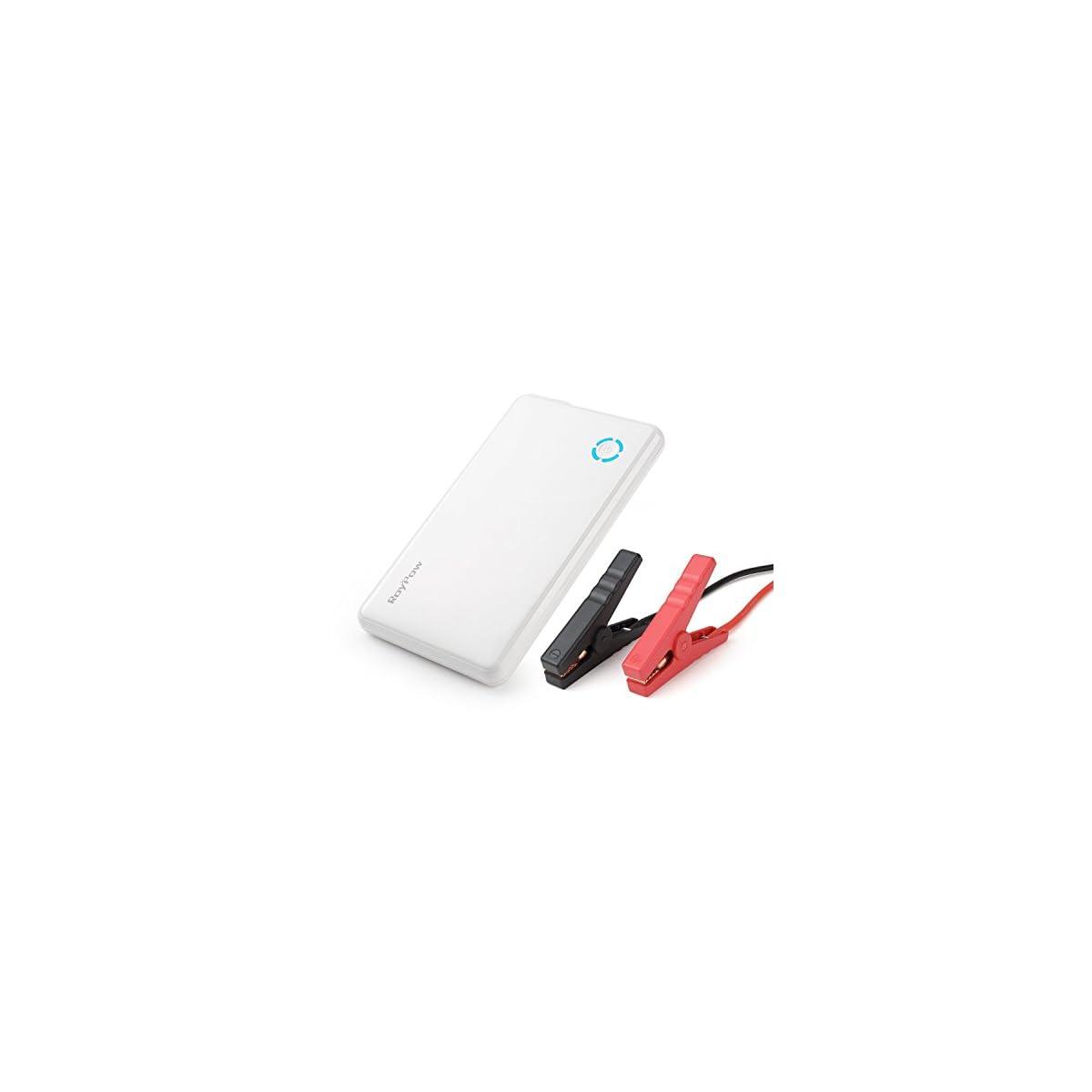 41Kc NjTWJL. SS1200  - Cargador de batería de 6000 mAh 300A y multifunción para arrancar el coche, cargador para encendido automático, teléfonos móviles y dispositivos electrónicos de puerto USB, de color negro mate, de la marca RoyPow