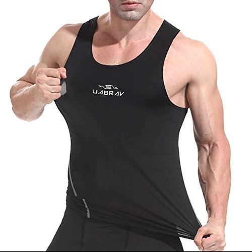 ZiXing-Mens-Compression-Cool-Dry-Vest-Gym-O-Neck-Muscle-Tank-Top-For-Running-Training-Cycling