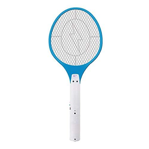 Las Abejas 1pc eléctrico Zapper del Mosquito del Palo de la Raqueta de la Raqueta Recargable matamoscas de Mosca del Mosquito del Asesino de la Raqueta con iluminación LED Azul