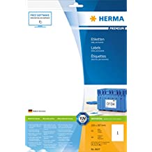 Herma 8637 Universal-Etiketten selbstklebend (210 x 297 mm, DIN A4 Format, Premium Papier, matt) 10 Stück auf 10 Blatt, weiß, bedruckbar