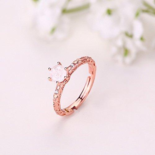 Erica 925 en argent sterling or 18 carats plaqué Garnet ouverture ajustable anneaux pour les femmes 3