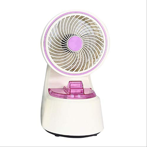 DUOER home Tischventilatoren 6,5-Zoll-Zwei-Wege-Portable Spray Luftbefeuchter Mini Fan, kleine wassergekühlte Office Silent Desktop-Lüfter Ventilatoren (Color : Purple) - Turm-ventilator Lila