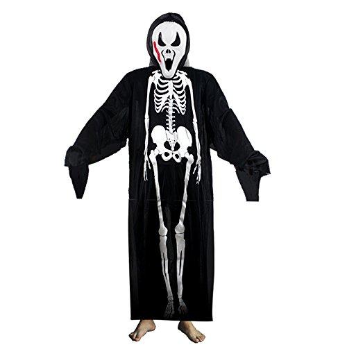 Imagen de decdeal  disfraz de esqueleto para halloween mascarada cosplay, unisex hombre, mujer