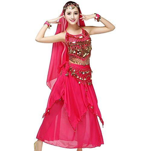 MoLiYanZi Damen Damen Belly Dance Costume Performance Kostüm -