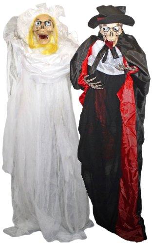 Folat 23675 - Hängendes Brautpaar mit roten Auge - (Horror Brautpaar Kostüm)