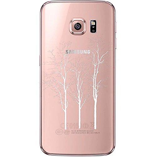 Coque Samsung Galaxy S6 Edge TPU Case Cover Absorption de Choc Hull, Vandot Samsung Galaxy S6 Edge Etui Silicone Souple Transparente Case Très Légère Housse Ajustement Parfait Coque pour Samsung Galax Cyprès