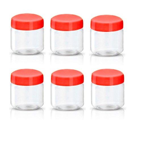 behälter für Lebensmittel, Kunststoff, Rot, 100ml,  Pack von 6 ()