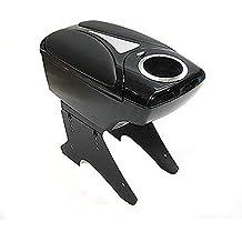 Boloromo 48011 Apoyabrazos Consola Central Reposabrazos Tuning Acolchado Soporte Caja de Consola Negro