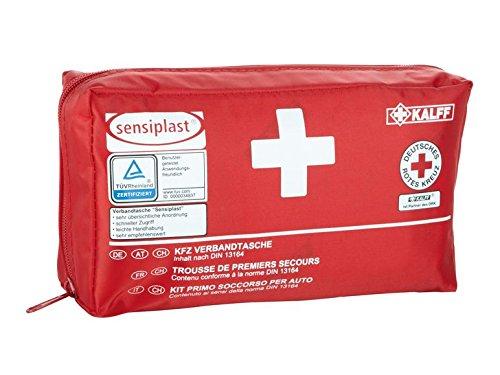 Sensiplast KFZ Verbandtasche Verbandkasten Rot 44 Teilig bis 2019/12 DIN 13164-2014