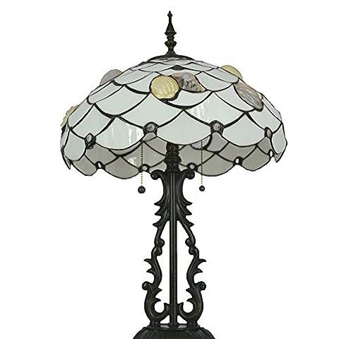 Neu Designed Tischlampe, Nuomeiju @ NMJ038, Bronze Fertig, Nostalgischen Stil mit Metall und Glasmalerei Schatten