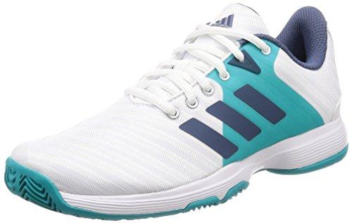 adidas Barricade Court, Scarpe da Tennis Donna, Bianco Ftwwht/Tecink/Hiraqu, 40 EU