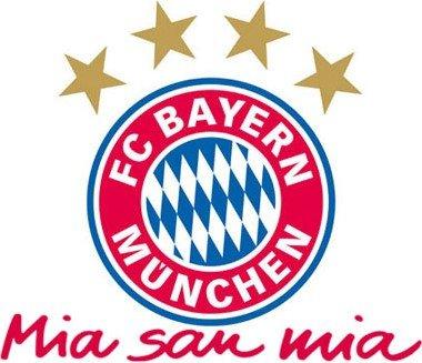 Preisvergleich Produktbild FC Bayern Wandtattoo Mia San Mia