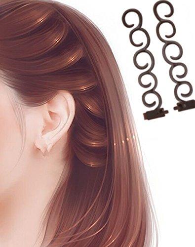 - 41Kc5Gr7ZkL - Cuhair® 2pcs women girl magical hair tools twist styling accessories