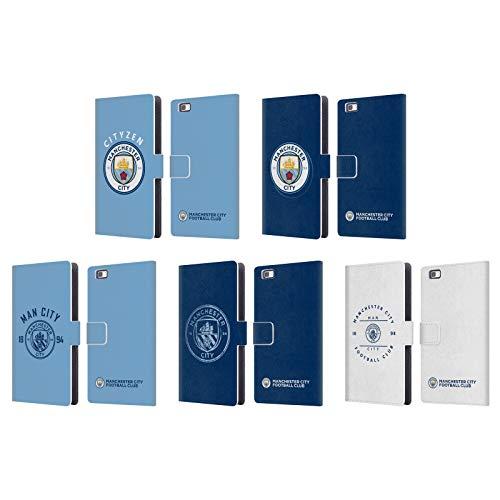 Officiel Manchester City Man City FC 2018/19 Badge Étui Coque De Livre en Cuir pour Huawei Téléphones 2