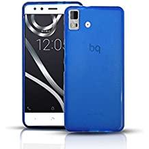 Funda Gel Lisa AZUL para BQ AQUARIS E5S LITE - ESSENTIAL