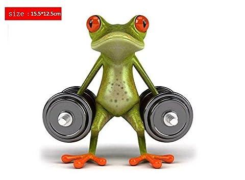 SKS Distribution® 3D Bodybuilding Gewichtheben Frösche lustig auto Aufkleber Auto Styling Vinyl Aufkleber Aufkleber Deko High Temperatur und Wasser Proof