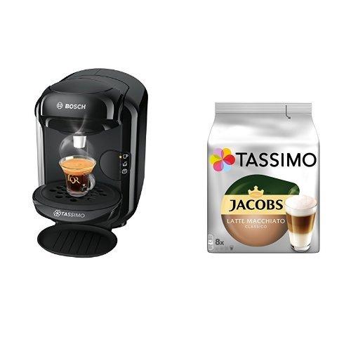 Produktbild Bosch Tassimo TAS1402 Kapselmaschine + Tassimo Jacobs Latte Macchiato Classico, 5er Pack Kaffeespezialität T Discs (5 x 8 Getränke)