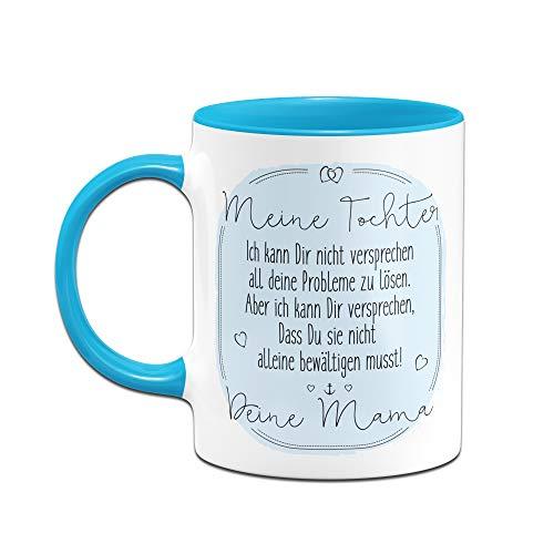 Tassenbrennerei Tasse mit Spruch für Tochter von Mama - Geschenke von Mutter für Tochter, Tassen mit Sprüchen (Blau) - 2