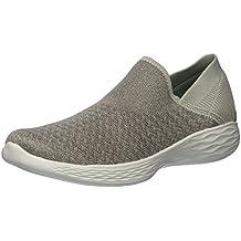 Skechers You-Transcend, Zapatillas Sin Cordones Para Mujer, Beige (Taupe), 38.5 EU
