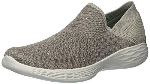 Skechers Gowalk 4 Super Sock 4, Baskets Basses Femme, Noir (BKW), 39 EU