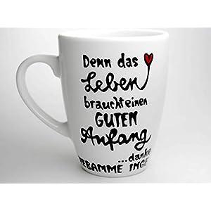 Hebamme Tassen Geschenk, Denn das Leben braucht einen guten Anfang, Hebammengeschenk, Tasse mit Namen, personalisierbar, handgemacht