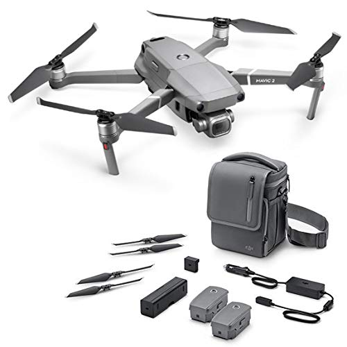 2018 DJI Mavic 2 Pro Fly More Combo, Drone with Hasselblad Camera HDR Video Variable 20MP 1 Inch CMOS Sensor (3 Batteries, Car Charger, Battery Charging Station, 10 Low-Noise Propellers, Shoulder Bag)