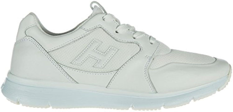Hogan Zapatos Zapatillas de Deporte Hombres en Piel Nuevo Blanco -