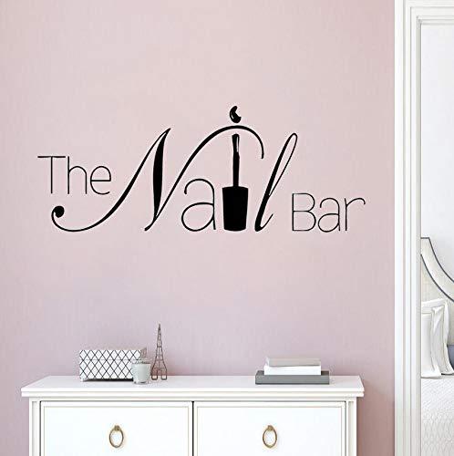 -Logo-Wand-Fenster-Aufkleber-Maniküre-Entwurfs-Wand-Aufkleber-Entfernbare Nagel-Kunst-Wand-Plakat-Schönheits-Salon-Fenster-Dekor 57X22Cm ()