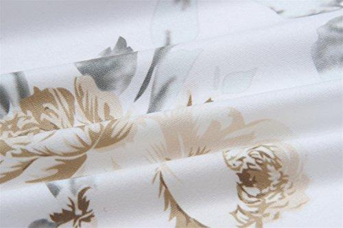 a Maniche Corte Spalle Scoperte Fondo a volant a Fiori Mini Shift Boxy Straight dritto Vestito Abito Bianco