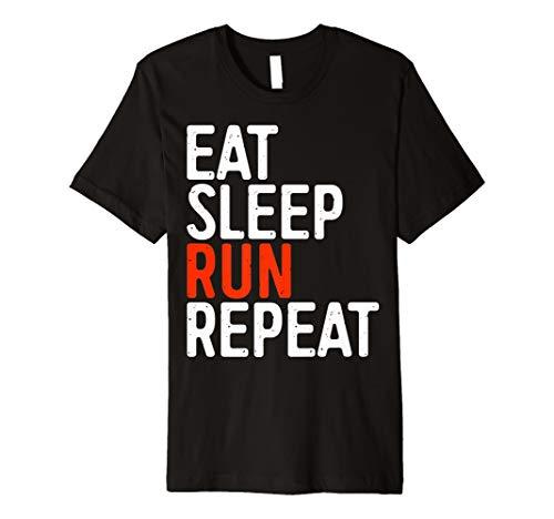 EAT SLEEP Run Repeat T-Shirt Runner Geschenk Shirt