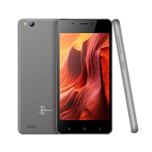 Günstiges Handy Ohne Vertrag, Ken V6 Dual SIM Mobile Phone 3G Android 6.0 Smartphone (4,5 Zoll Display, 8GB Interner Speicher Mini-Telefon) (Grau)