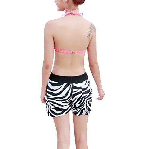 Liebespaar Boardshorts Badeshorts Badehose Beach Shorts/ Lässig, Surfen, Sommer, Strand Shorts XXL Damen Zebra Streifen