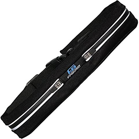 FinBurst Running Belt PRO - Super SALE - High-End Waist Pack for Increased Safety and Durability - Fits EVERY iPhone and Cell