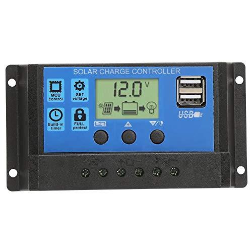 Solarpanel-Controller Solarladeregler USB-Anschluss ABS 10A, 20A, 30A für Solarsysteme zu Hause und im gewerblichen Bereich(30A) -