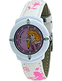 Disney #MQ-1220 Kid's Sleeping Beauty Princess Aurora White Case White Strap Watch