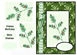 A4Craft sheet-Une belle carte de crédits dans des nuances de vert: Carol leapard superbe doodles Art par Gail Collins