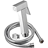 PESCA Imported Brass Health Faucet with 1.5 Meter Stainless Steel Grade 304 Tube and Wall Hook (Chrome)