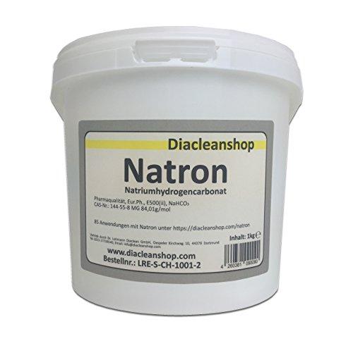 Natron 1 kg in pharmazeutischer Qualität - Natriumhydrogencarbonat (E500ii) - Backsoda - Bakingsoda - Basenbad - Hausmittel zum Backen, Reinigen, Baden, Gerüche Neutralisieren & DIY-Kosmetik
