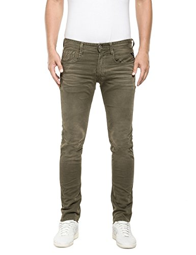 Replay - Anbass, Jeans Uomo, Verde (Military Green 393)), W31/L34