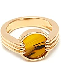 Lola Rose Garbo Double Botswana Agate White Sea Shell Marble Ring SJIp2XW