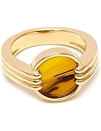 Lola Rose Garbo Double Botswana Agate White Sea Shell Marble Ring