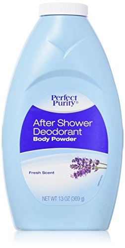 After Shower Deodorant Body Powder With Baking Soda & Comstarch Lavender Scent 13oz. &... by After Shower Deodorant Body powder