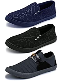 Ethics Perfect Combo Pack of 3 Muliticolored Casual Stylish Loafers Shoes for Men's