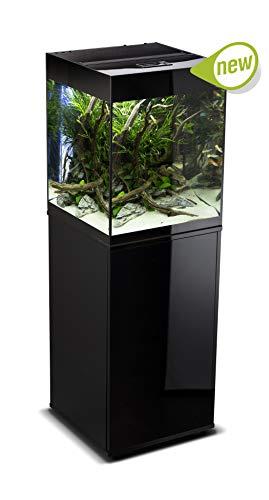 AQUAEL Glossy Cube Black Acquario 135L con Mobile E Luce LED Adatto Dolce Piante