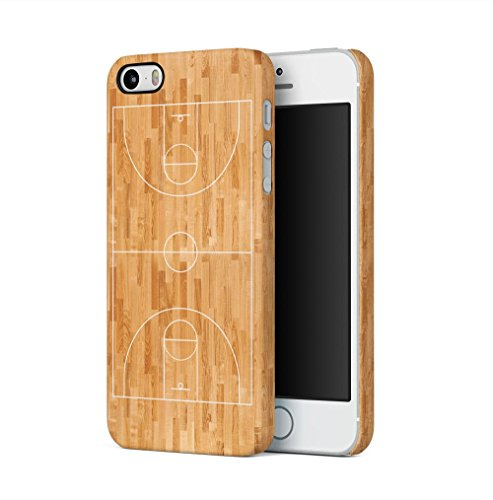 Basketball Arena Pattern Apple iPhone 5 / iPhone 5S / iPhone SE SnapOn Hard Plastic Phone Protective Fall Handyhülle Case Cover Iphone 5 Fall-hockey