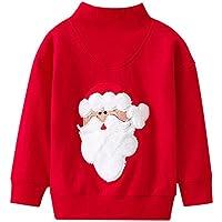 Mbby Felpe Neonato Natale 2-9 Anni Bimba Ragazze E Ragazzi Maglietta A  Righe Babbo 63e4c1ff2fd9