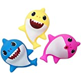 MASS Bath Toy Shark Bath Squirt Toys 3pcs, Shark Family Spray Water Squirt Toy Float Toys Bathtub Toy for Baby Toddlers